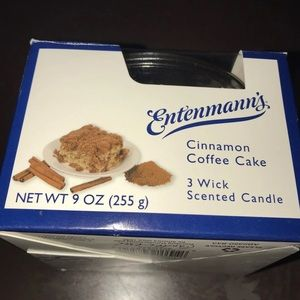 New Entenmanns Cinnamon Coffee Cake 3 wick candle